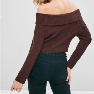 Sweaters - Free Shipping✨  Knit Off-the-Shoulder Sweater